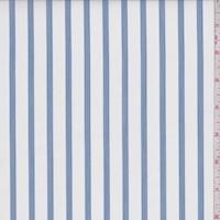 White/Blue/Black Stripe Cotton Shirting