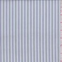 Sky/Olive/Violet Pinstripe Cotton Shirting