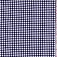 Dark Navy/White Gingham Check Cotton Shirting