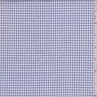 Blue/Whisper Pink Gingham Check Cotton Shirting