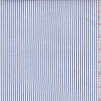 Medium Blue/White Stripe Oxford Shirting