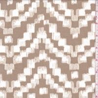 Taupe/White Block Chevron Slinky Knit
