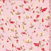 Pale Blush/Coral Floral Chiffon