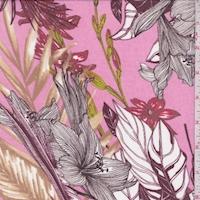 Bubblegum Pink/Maroon Jungle Chiffon