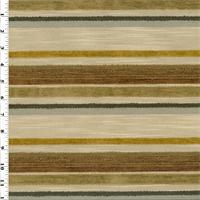 *1 1/2 YD PC--Multicolor Chenille/Boucle Stripe Home Decorating Fabric
