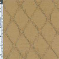 *4 1/8 YD PC--Copper Brown Quilted Silk Dupioni Home Decorating Fabric