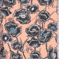 Cantaloupe/Black Poppy Chiffon