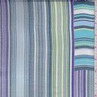 Slate/Purple/Sky Stripe Block Chiffon