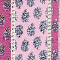 Pink/Hot Pink Wallpaper Stripe Chiffon