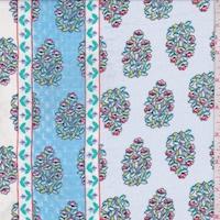 Pale Blue/Ivory Wallpaper Stripe Chiffon
