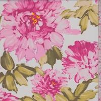 Raspberry/White Floral Mum Chiffon