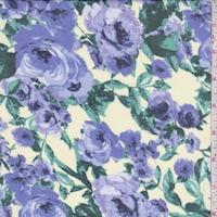 Buff/Purple Floral Chiffon