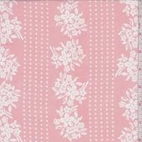 Creamy Pink Floral/Dot Stripe Chiffon