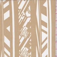 Golden Beige/White Deco Stripe Chiffon
