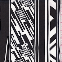 Black/White Deco Stripe Chiffon