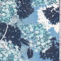 Blue/Navy Hydrangea Chiffon