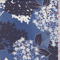 Violet Blue/Navy Hydrangea Chiffon