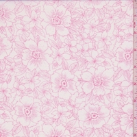 White/Pink Floral Georgette