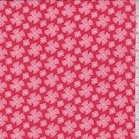 Cherry Red Fan Medallion Georgette