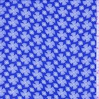 Berry Blue Fan Medallion Georgette