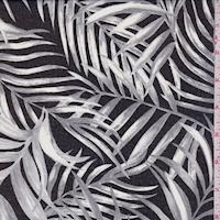 Black/Grey Palm Leaf Georgette