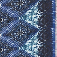 Cobalt/Black Tribal Stripe Chiffon