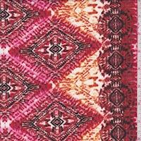Rust/Berry Tribal Stripe Chiffon