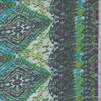 Lime/Fern Tribal Stripe Chiffon