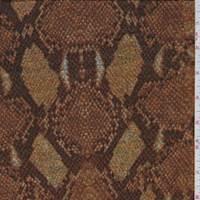 *1 1/8 YD PC--Orange/Gold Snakeskin Sweater Knit