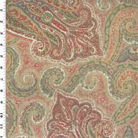*2 YD PC--Designer Linen Multicolor Paisley Print Home Decorating Fabric