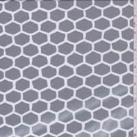 *3 3/8 YD PC--Dark Grey Honeycomb Double Knit