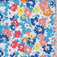 *1 1/2 YD PC--Aqua Multi Poppy Activewear/Swimwear