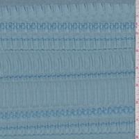 *2 1/2 YD PC--Blue Dust Embroidered Seersucker