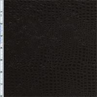 *8 3/4 YD PC--Black Boa Reptile Foil Print Velvet Home Decorating Fabric