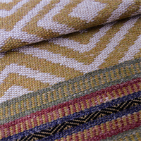 *3 1/2 YD PC--Multicolor Pattern Merida Yucatan Stripe Woven Home Decorating Fabric