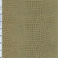 *7 3/4 YD PC--Swamp Green Reptile Foil Print Knit Velveteen Drapery Fabric