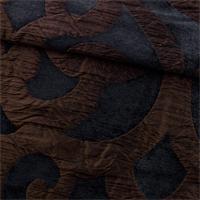 *2 3/4 YD PC-- Black/Brown Kooza Slate Matelasse Home Decorating Fabric