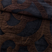 *3 YD PC--Black/Brown Kooza Slate Matelasse Home Decorating Fabric
