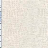 *2 3/4 YD PC-- Ivory Boa Reptile Foil Print Velvet Home Decorating Fabric