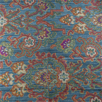 *1 YD PC--Teal/Red Rialto Lagoon Jacquard Home Decorating Fabric