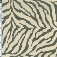 *1 1/2 YD PC-- Gray/White Zebra Stripe Jacquard Home Decorating Fabric