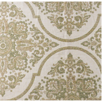 *2 1/8 YD PC-- Sage Green/Beige Carmine Chenille Jacquard Home Decorating Fabric