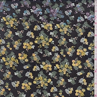 Black Multi Mini Floral Chiffon