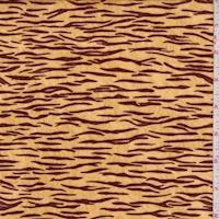 Golden Yellow/Brown Tiger Panne Velvet Knit