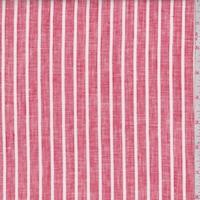 Red/White Stripe Linen Blend