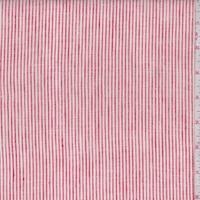 White/Red Pinstripe Linen Blend