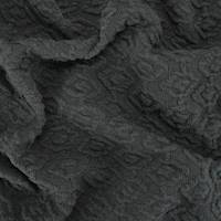 *3 YD PC--True Black Texture Diamond Matelasse Knit Jacketing
