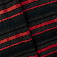 *2 7/8 YD PC--Black/Red Stripe Woven