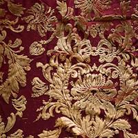 *5 YD PC--Golden Brown/Wine Baroque Burnout Velvet Knit