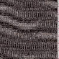 *1 5/8 YD PC--Tan/Black Wool Blend Tweed Jacketing